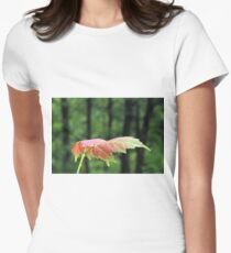 Spring Maple leaf Womens Fitted T-Shirt