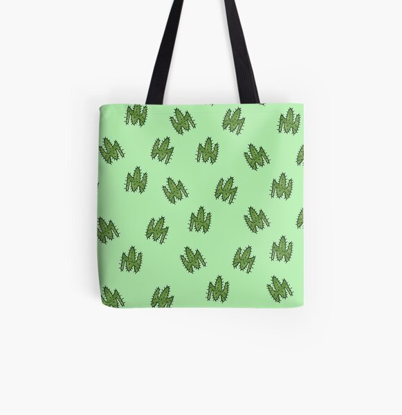 Green cactus All Over Print Tote Bag