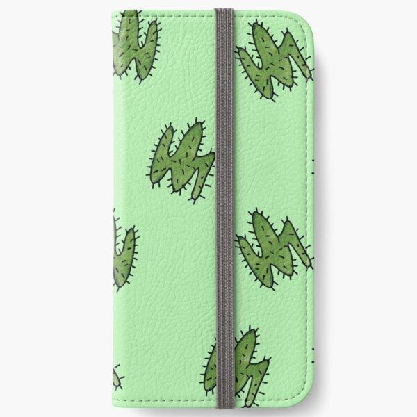 Green cactus iPhone Wallet