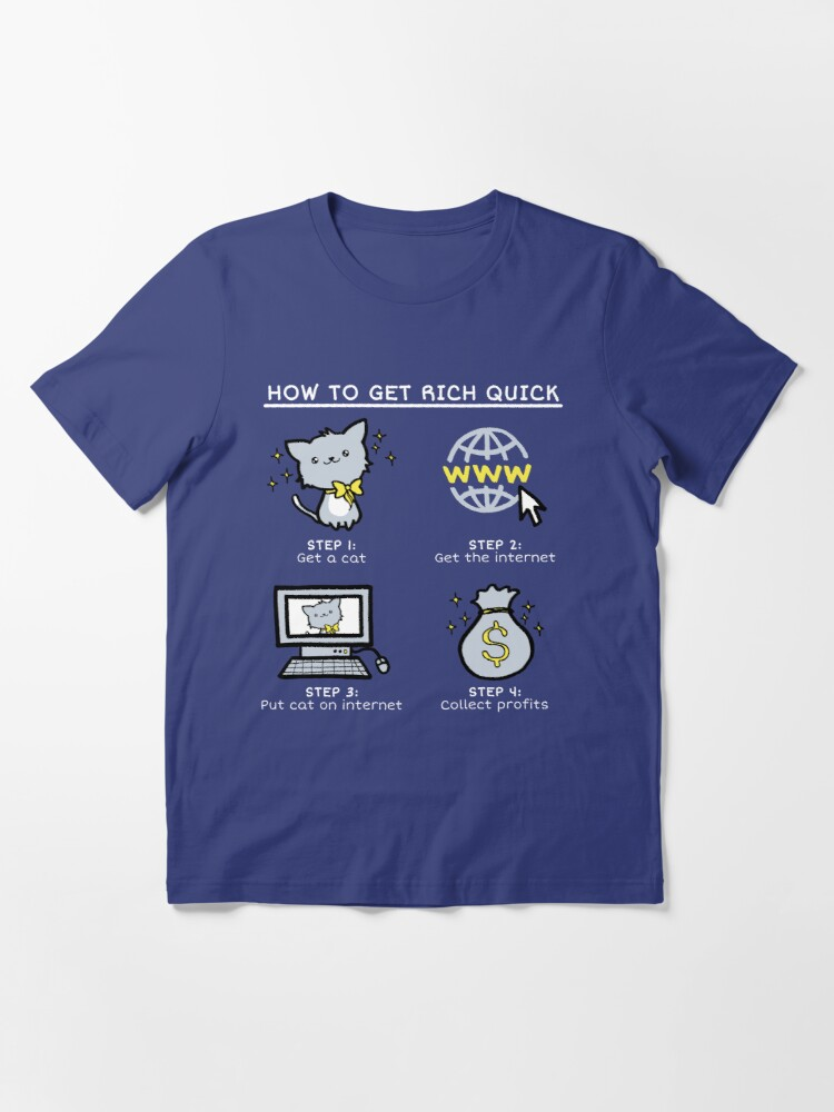 Alternate view of How to Get Rich Quick Essential T-Shirt