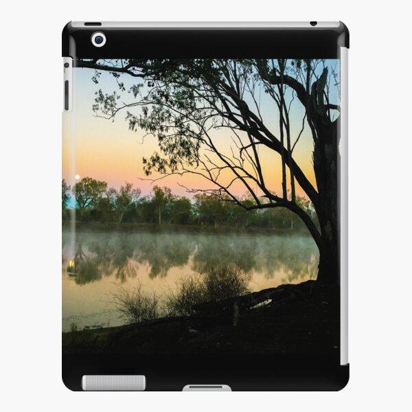 Full moon setting over misty lake iPad Snap Case