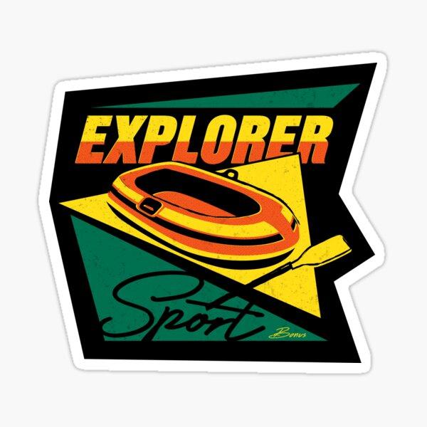 Explorer Sport - summer lake life retro 80s sportswear Sticker