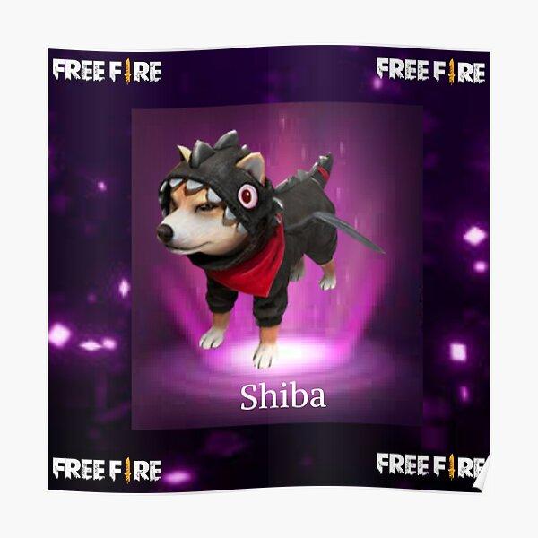 mascota shiba free fire Póster