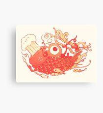 Japanese Red Carp Canvas Print