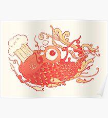 Japanese Red Carp Poster
