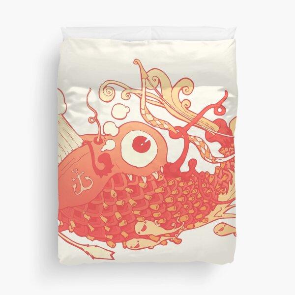 Japanese Red Carp Duvet Cover