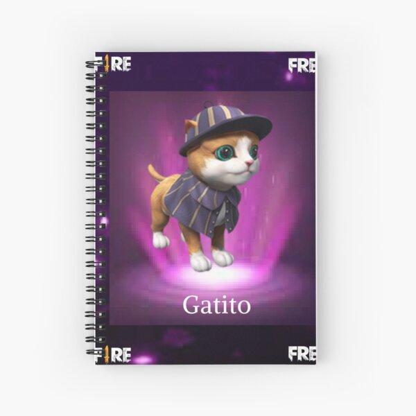 mascota del gatito free fire Cuaderno de espiral