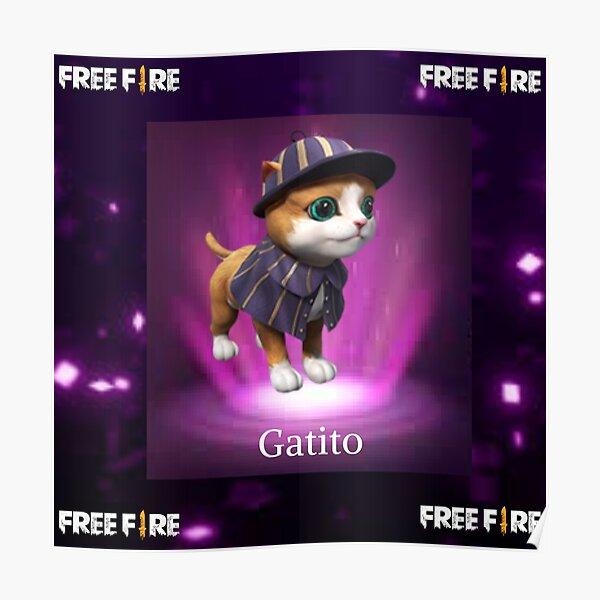 mascota del gatito free fire Póster