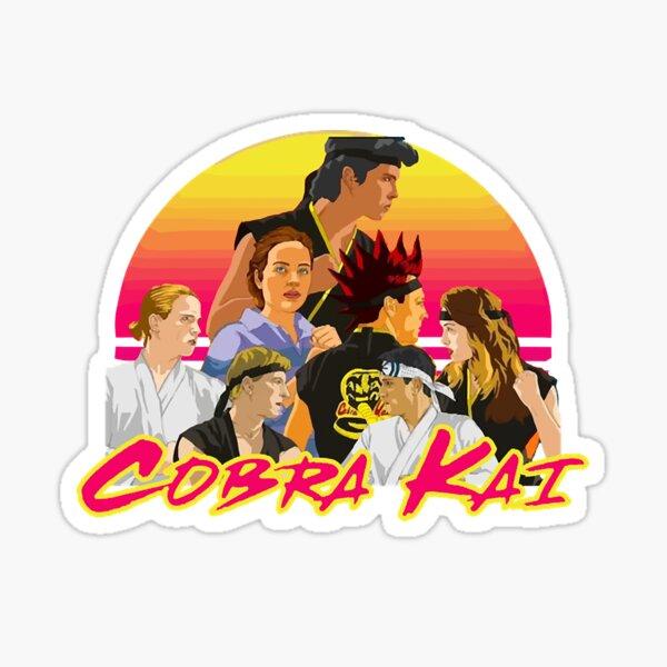 cobra kai all squad - retrowave  Sticker