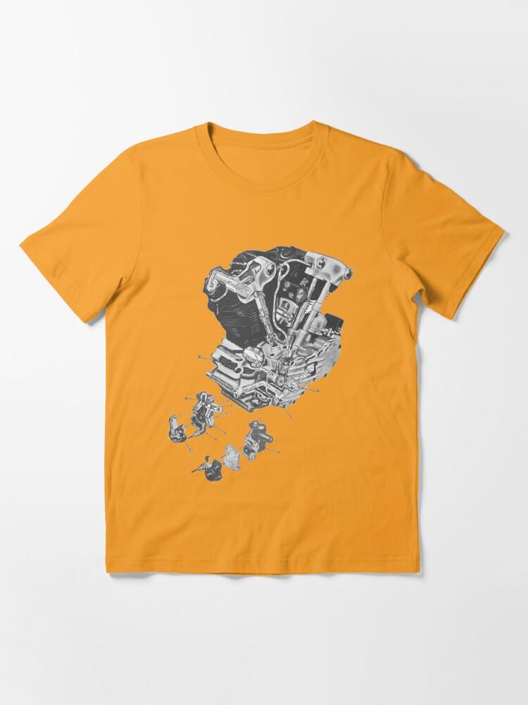 Alternate view of (replica) Harley Davidson Knucklehead engine...T-shirt etc... Essential T-Shirt