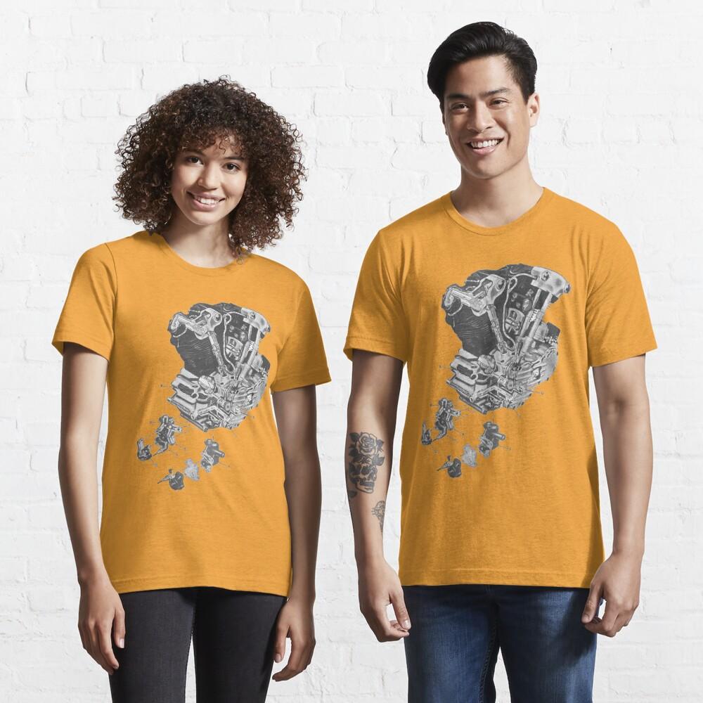 (replica) Harley Davidson Knucklehead engine...T-shirt etc... Essential T-Shirt