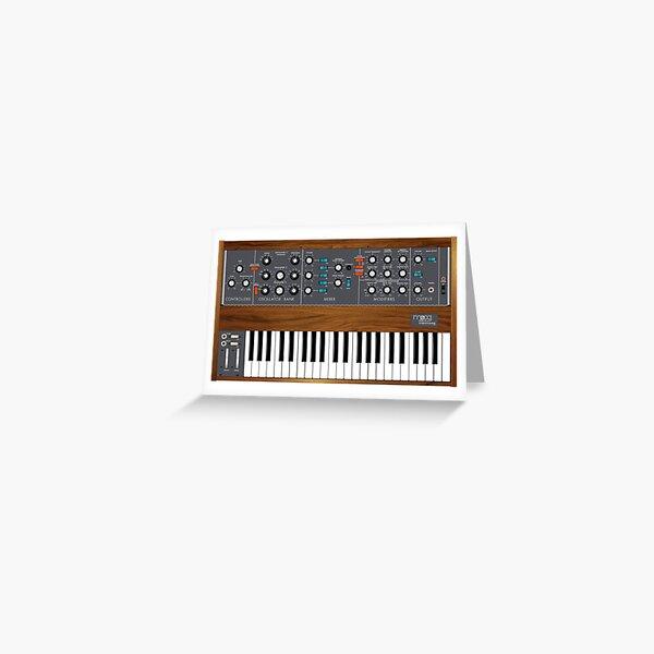 Moog Minimoog Synthesizer Greeting Card
