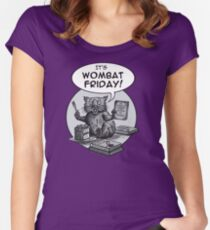 It's Wombat Friday! Women's Fitted Scoop T-Shirt