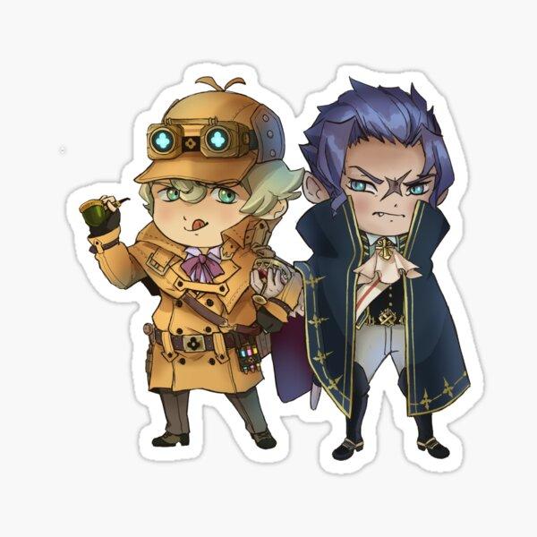 Barok van Zieks and Sherlock Holmes Chibi Sticker/pin Sticker