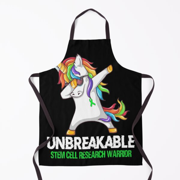 Unicorn Dabbing Unbreakable Stem Cell Research Warrior Apron