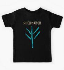 shieldmaiden -  symbol Kids T-Shirt