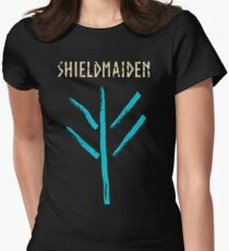 shieldmaiden -  symbol Women's Fitted T-Shirt