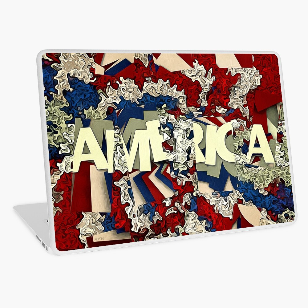 Abstract Patriotic America Laptop Skin