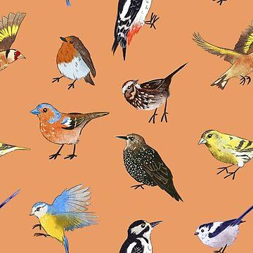 British Bird Pattern by sarcochrane