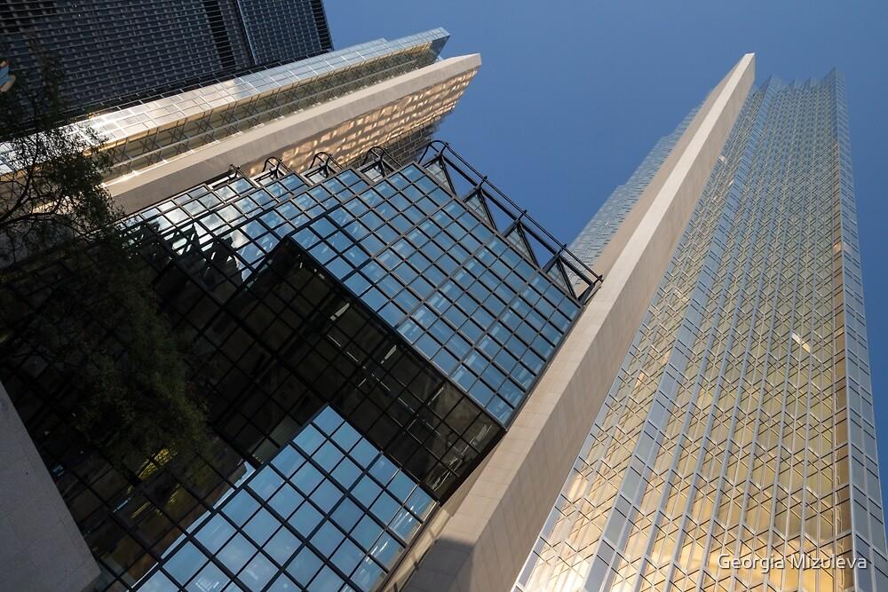 Gold, Black and Blue Geometry - Royal Bank Plaza by Georgia Mizuleva