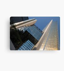 Gold, Black and Blue Geometry - Royal Bank Plaza Canvas Print