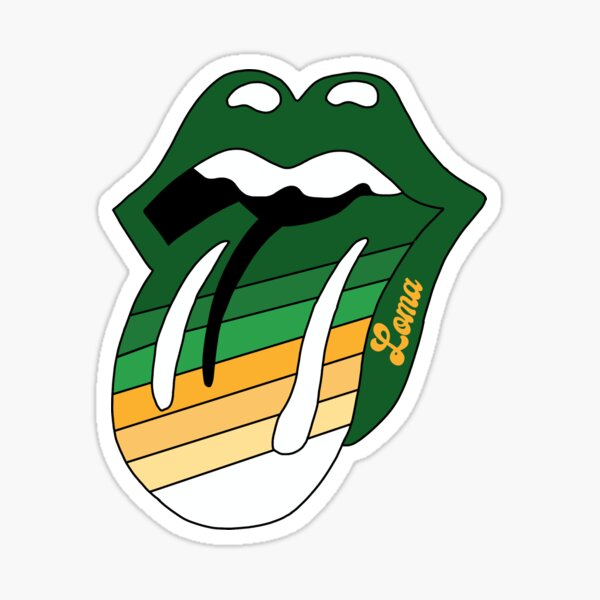 PLNU Tongue and Lips Sticker