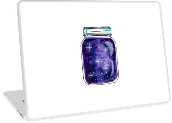 'Purple Galaxy Jar' Laptop Skin by Toxic-Ink