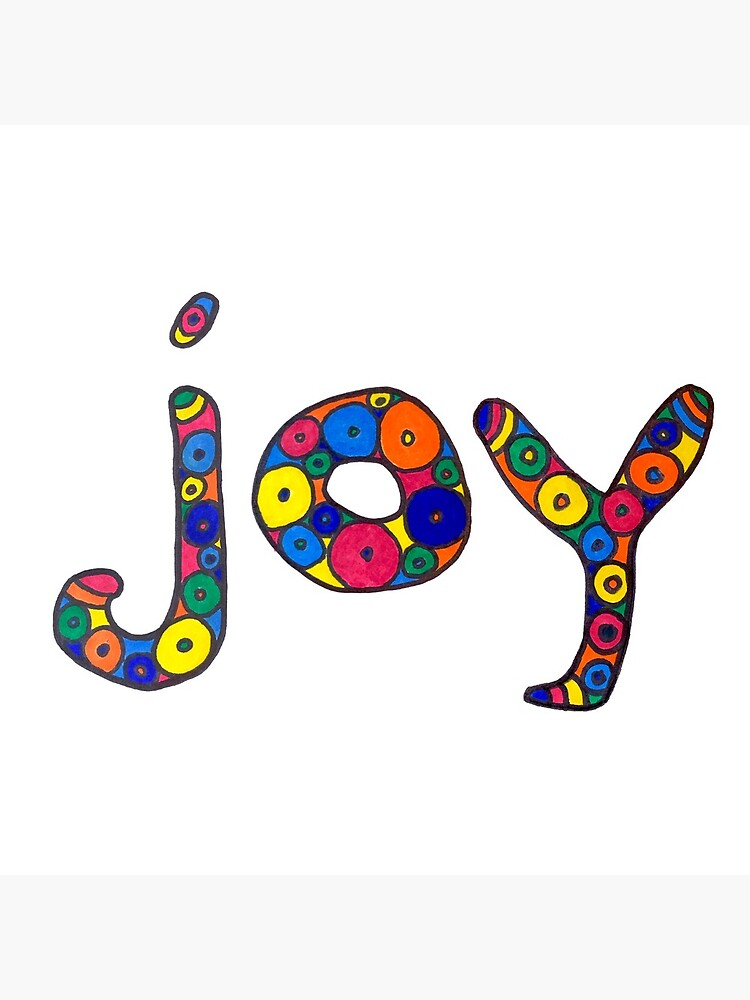 """word """"joy"""" in colorful circles by LiveYummy"""