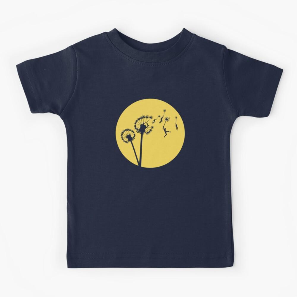 Dandylion Flight - Reversed Circular Kids T-Shirt