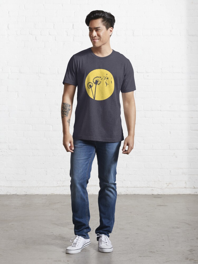 Alternate view of Dandylion Flight - Reversed Circular Essential T-Shirt