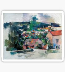 1880 - Paul Cezanne - Landscape Sticker
