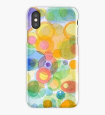 Vividly interacting Circles Ovals and Free Shapes iPhone Case/Skin