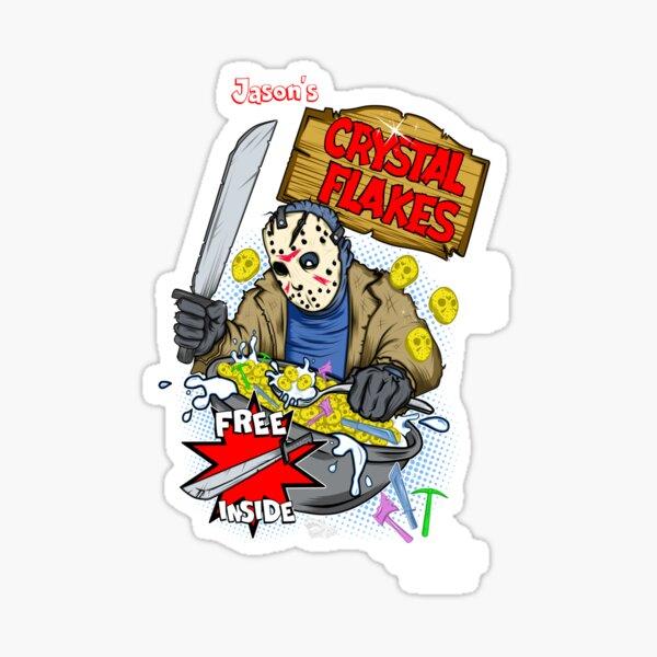 Jason's Crystal Flakes Sticker