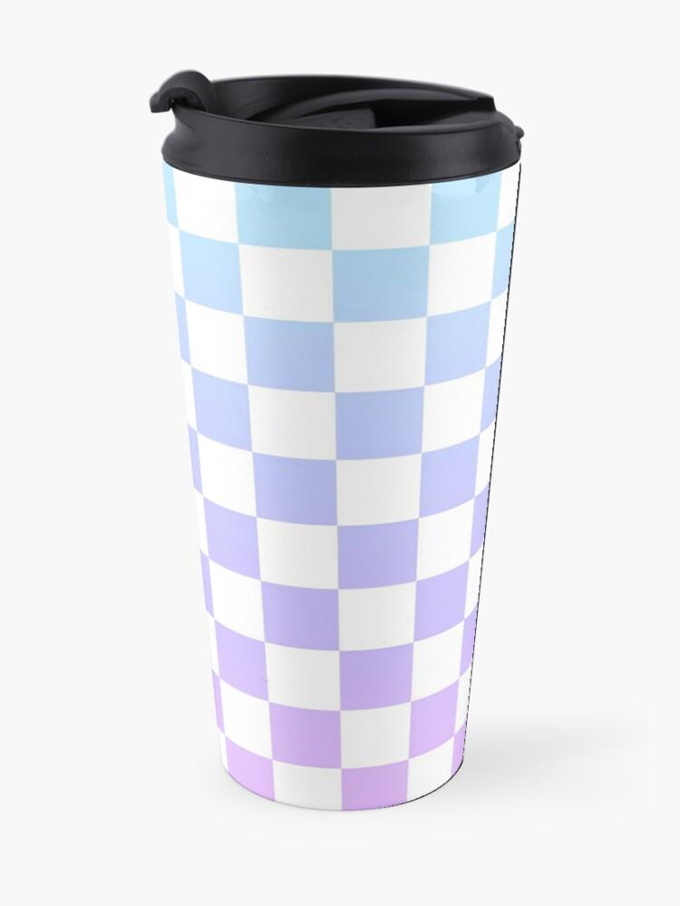 Alternate view of Blue and Purple Checkered Pattern Travel Mug