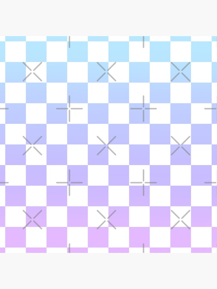 Blue and Purple Checkered Pattern by CatieY