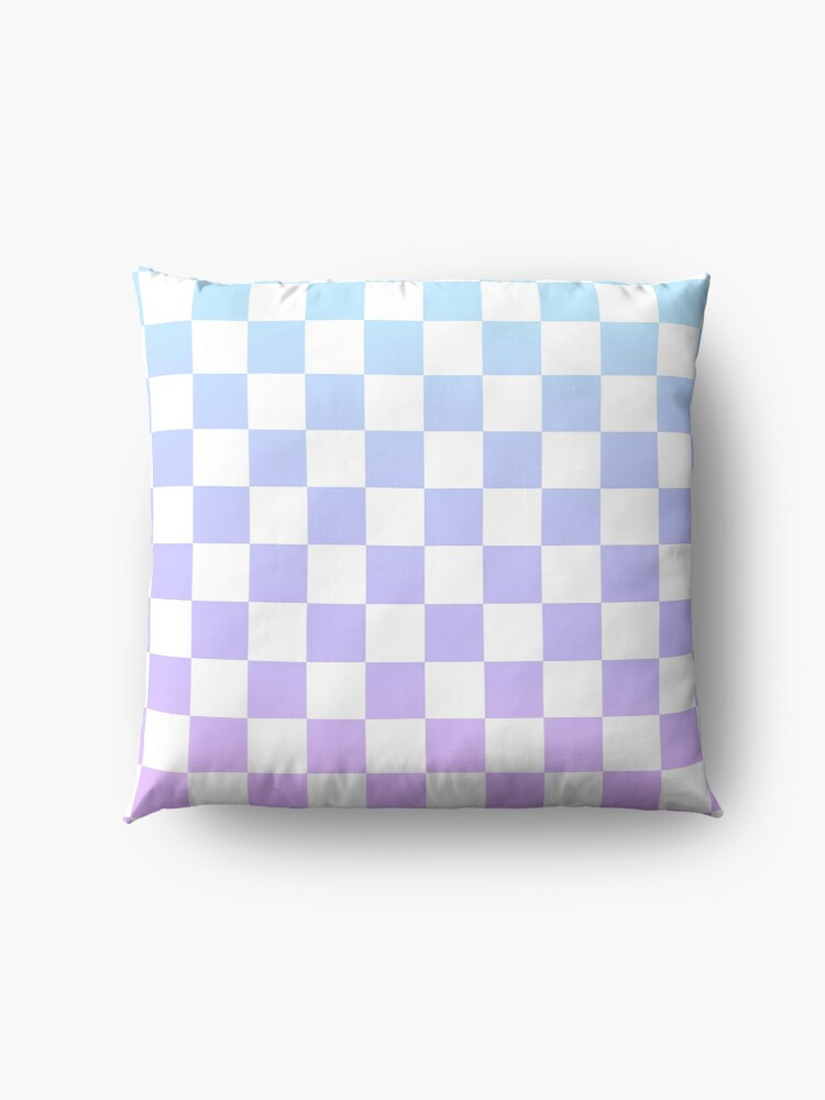 Alternate view of Blue and Purple Checkered Pattern Floor Pillow