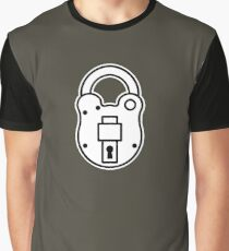 Padlock Graphic T-Shirt