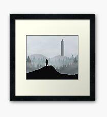 The 100 - Flat Landscape Framed Print