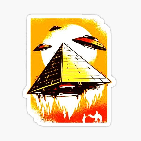 Pyramid ufo Sticker