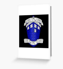 Whibly Whobly Tardis Greeting Card