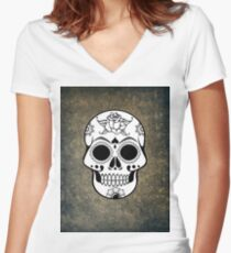 scull Women's Fitted V-Neck T-Shirt