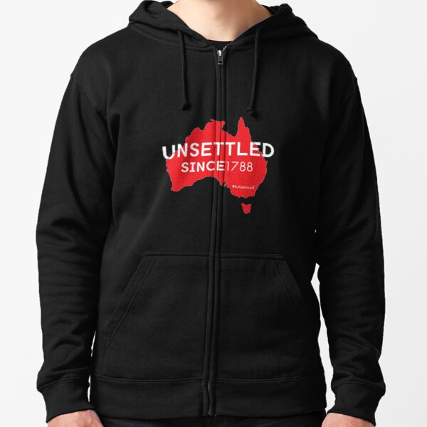 Unsettled Since 1788 (red version)  Zipped Hoodie