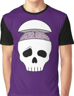Brainy Skull Graphic T-Shirt