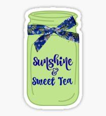 Southern: Sunshine & Sweet Tea Mason Jars Sticker