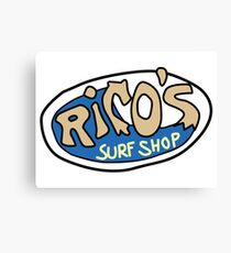 Rico's Surf Shop Logo Canvas Print