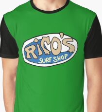 Rico's Surf Shop Logo Graphic T-Shirt