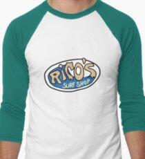 Rico's Surf Shop Logo Men's Baseball ¾ T-Shirt