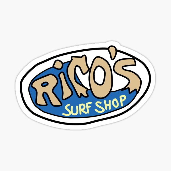 Rico's Surf Shop Logo Sticker