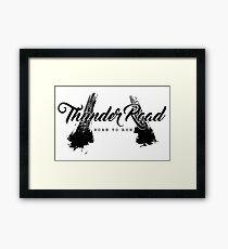 Thunder Road Tires - Light Framed Print