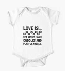 Love Is Wet Kisses Dog One Piece - Short Sleeve